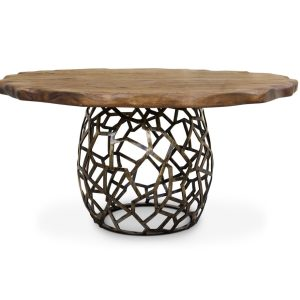 APIS Dining Table - Oak - brass