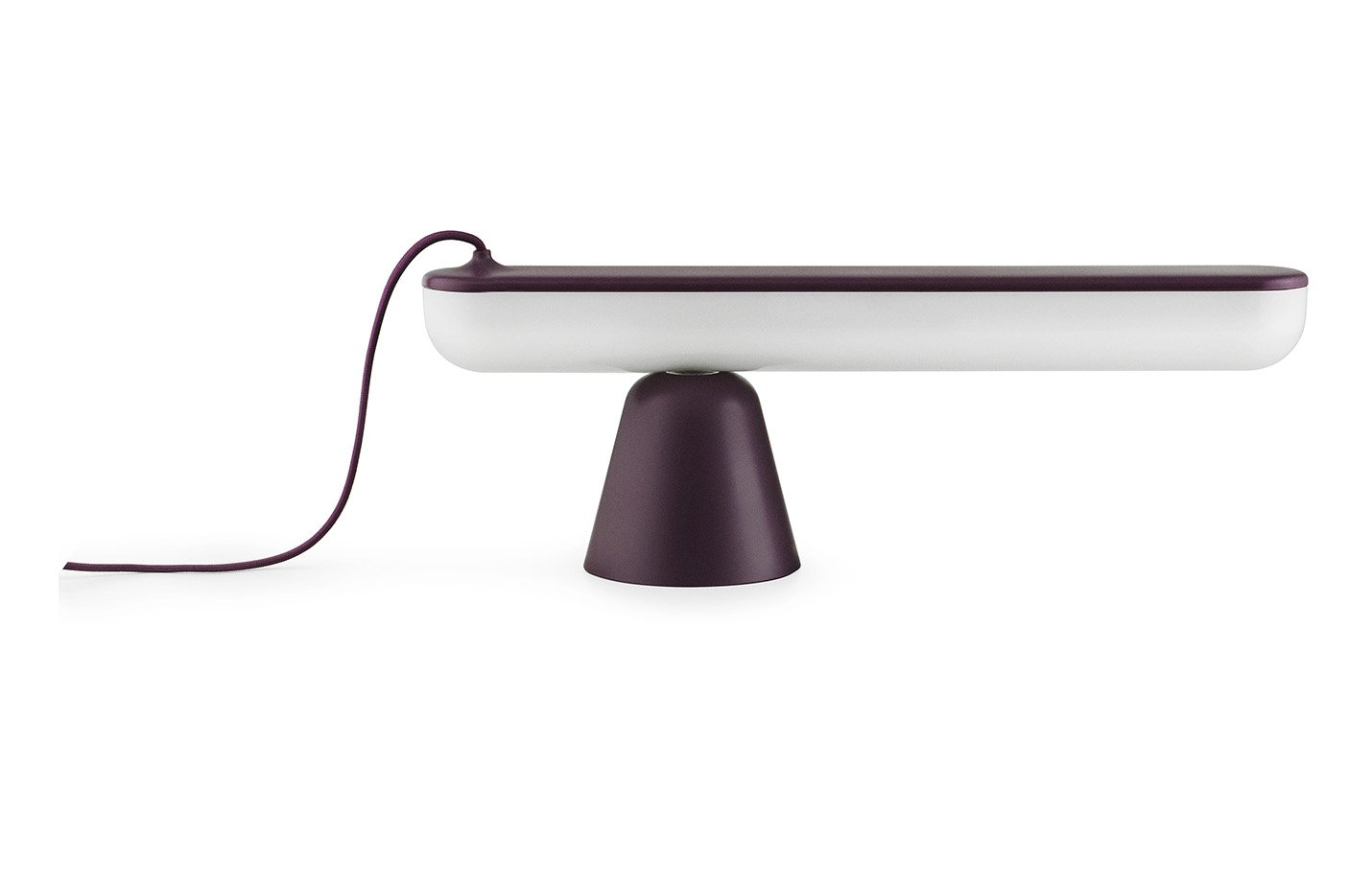 Acrobat table lamp – Aubergine