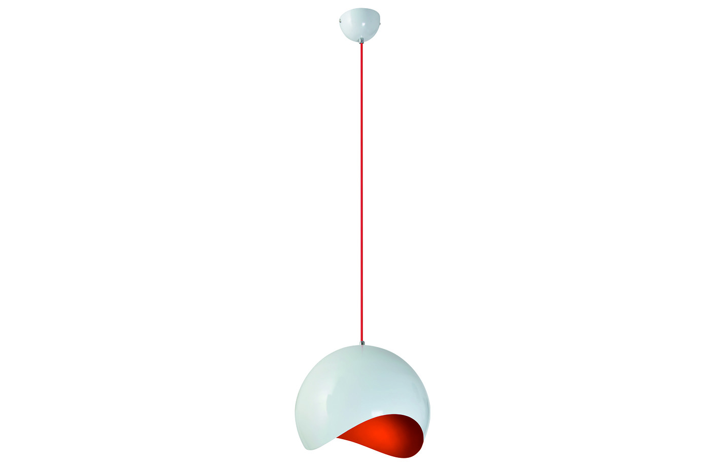 Alena pendant lamp – Large – White – Orange