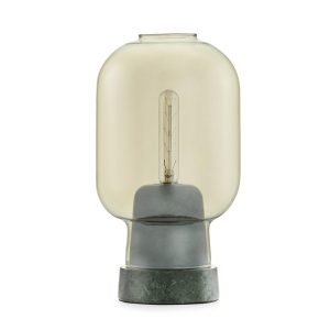 Amp table lamp gold - green