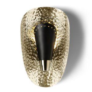 Aruna wall lamp - gold - black