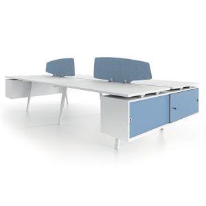 Atlas workstation table - white