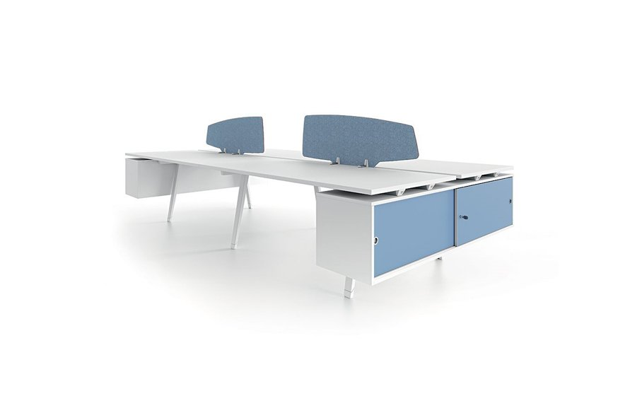 Atlas workstation table – white