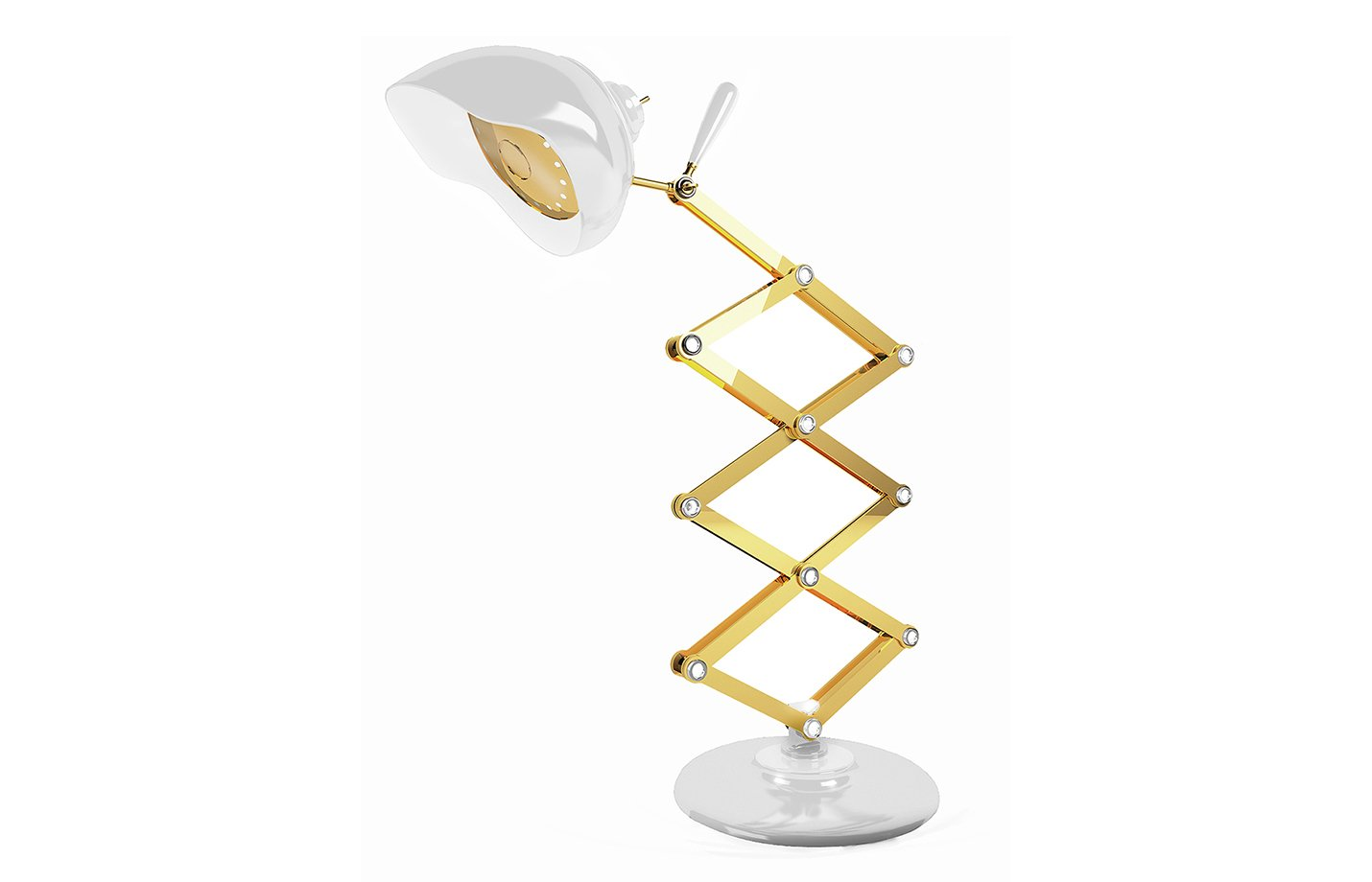 Billy table lamp – White – Gold