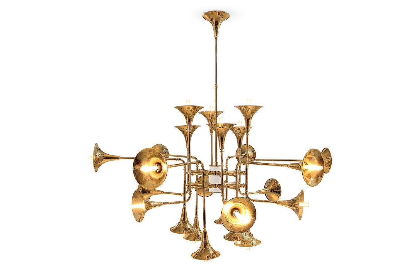 Botti Chandelier Light – Gold