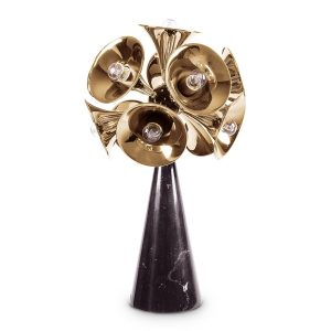 Botti table lamp - black - gold