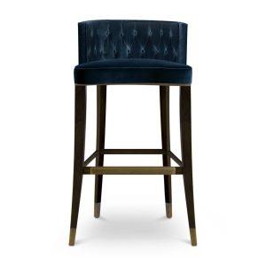 Bourbon bar chair - dark blue