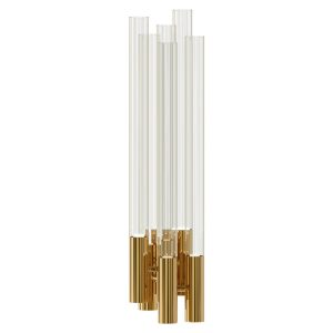 Burj wall lamp - crystal - gold