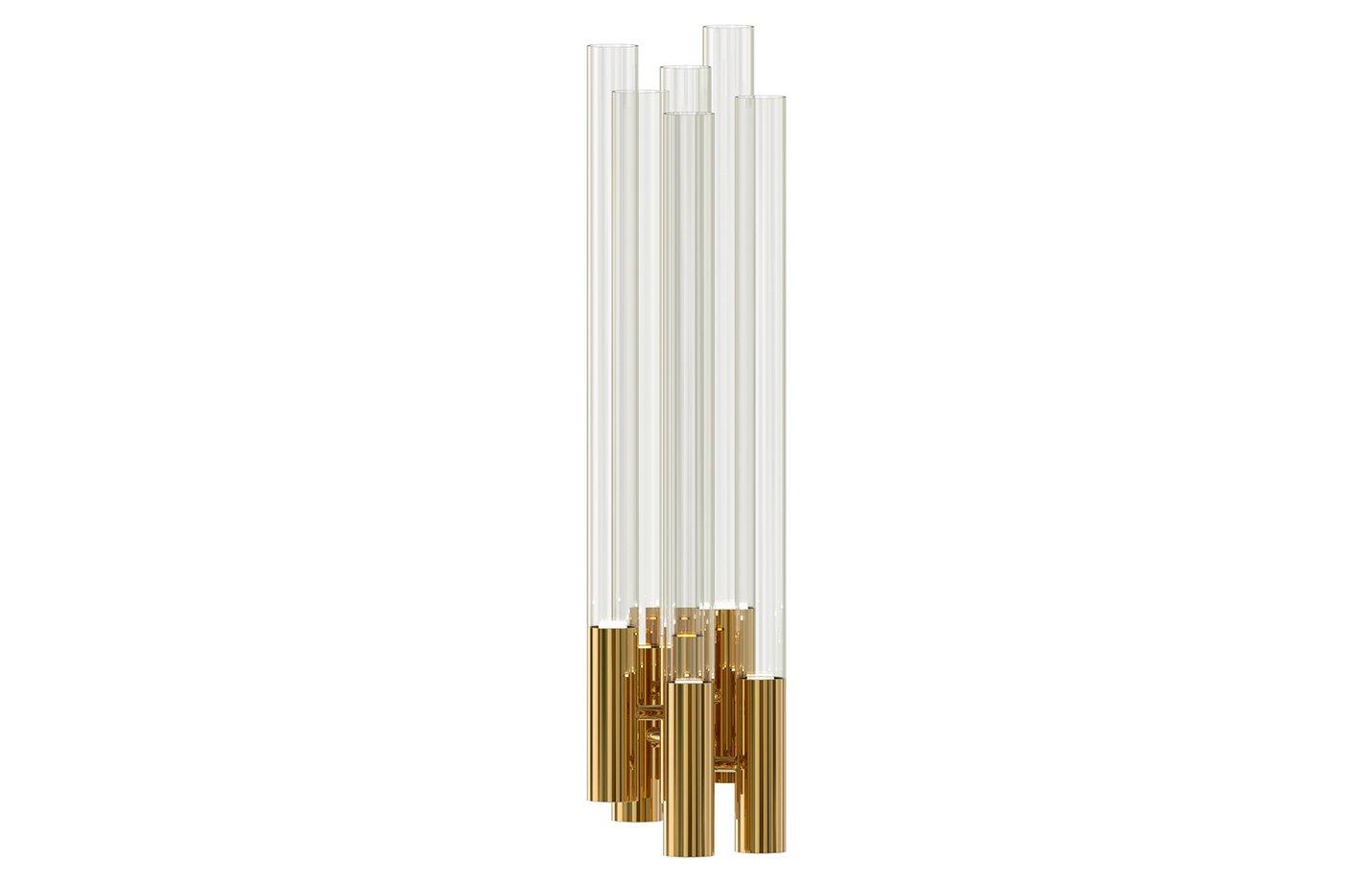 Burj wall lamp – crystal – gold