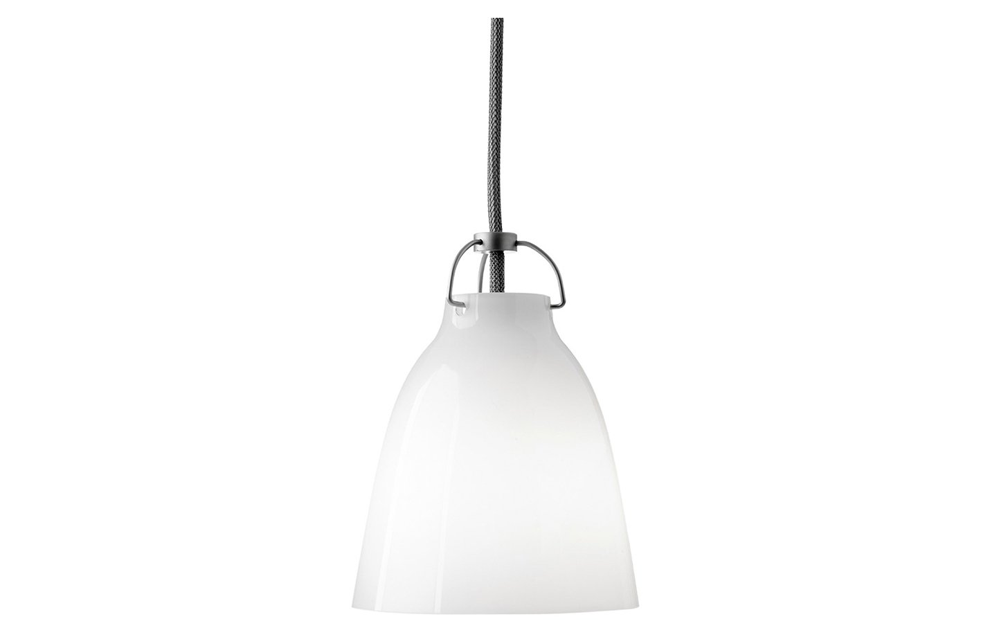 Caravaggio Opal pendant light glass white