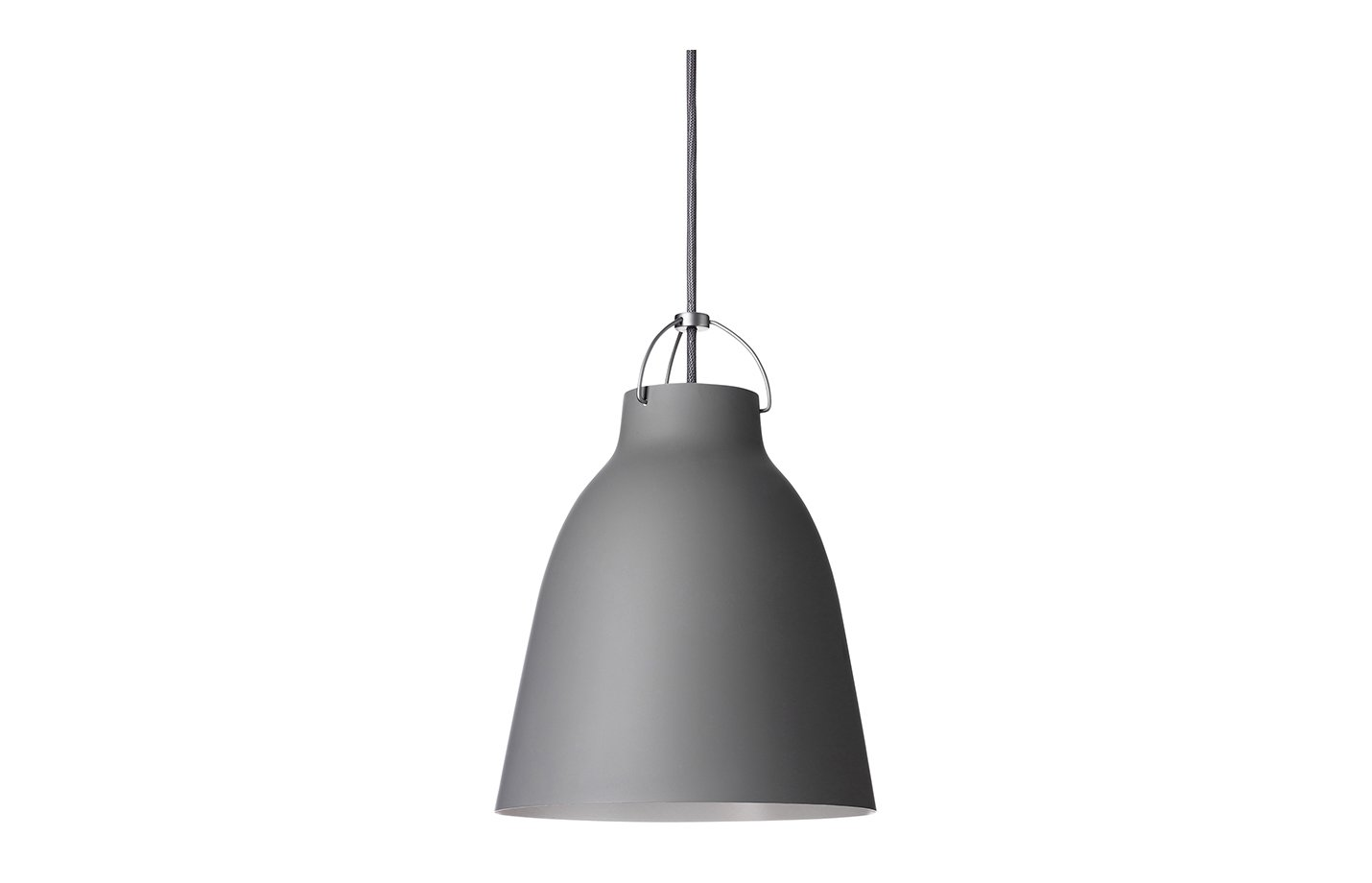 Caravaggio matt pendant light dark grey