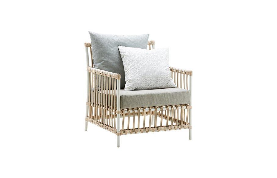 Caroline chair – Lounge – Alu Rattan – Dove white