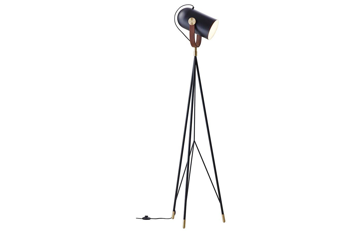 Carronade floor lamp – black – sand