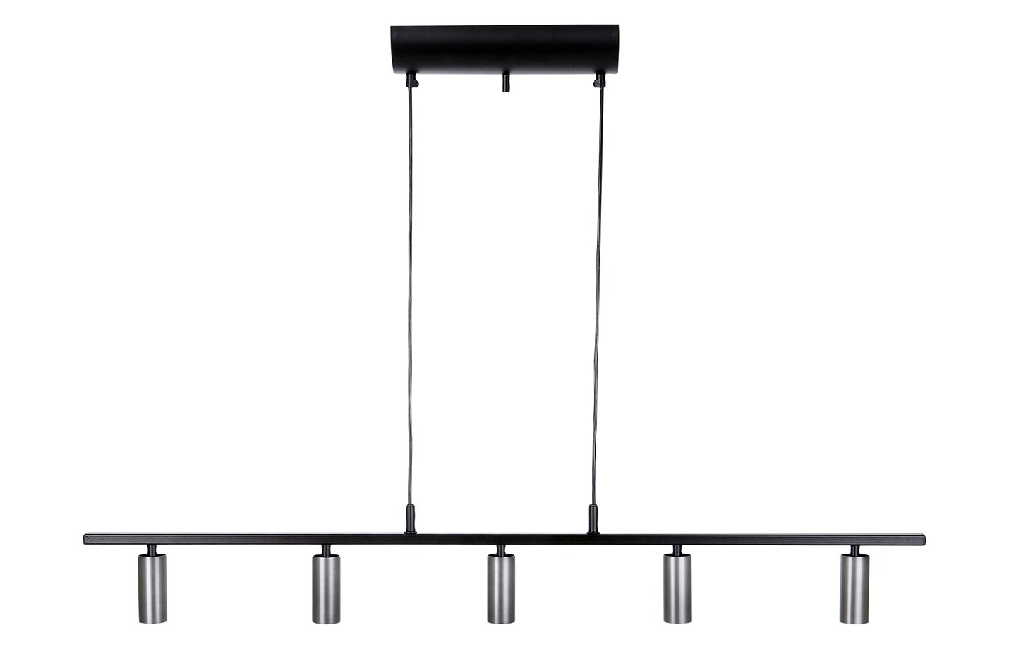 Cato LED pendant light black – grey