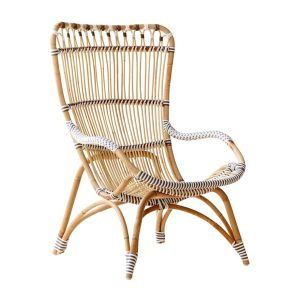 Chantal chair - Lounge - Alu Rattan - cappuccino