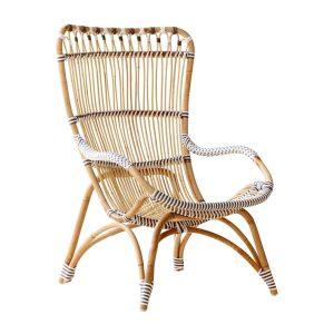 Chantal chair - Lounge - Alu Rattan - cappuccino