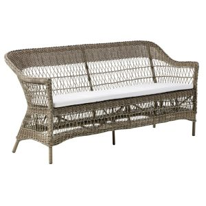 Charlot three seater cushion - Alu rattan - Antique