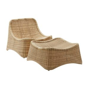 Chill lounge - alu Rattan - natural