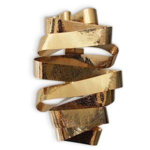 Chloe wall light - brass - gold