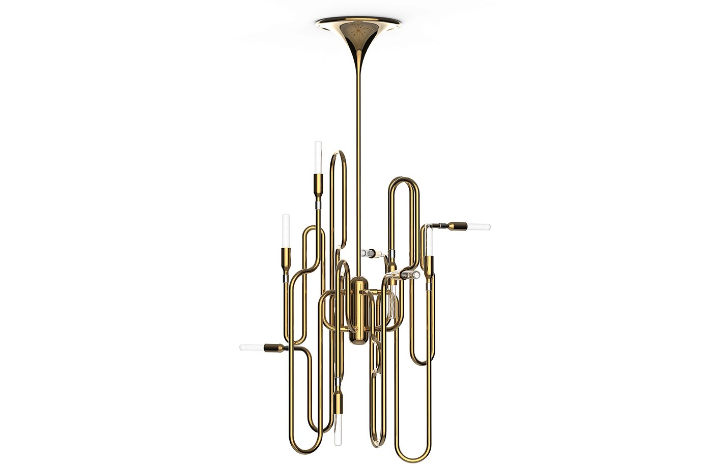 Clark pendant lamp – Brass – gold