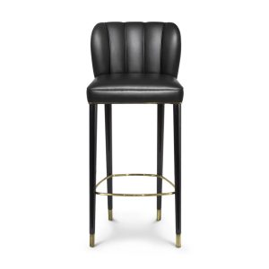 Dalyan bar chair - synthetic leather - black