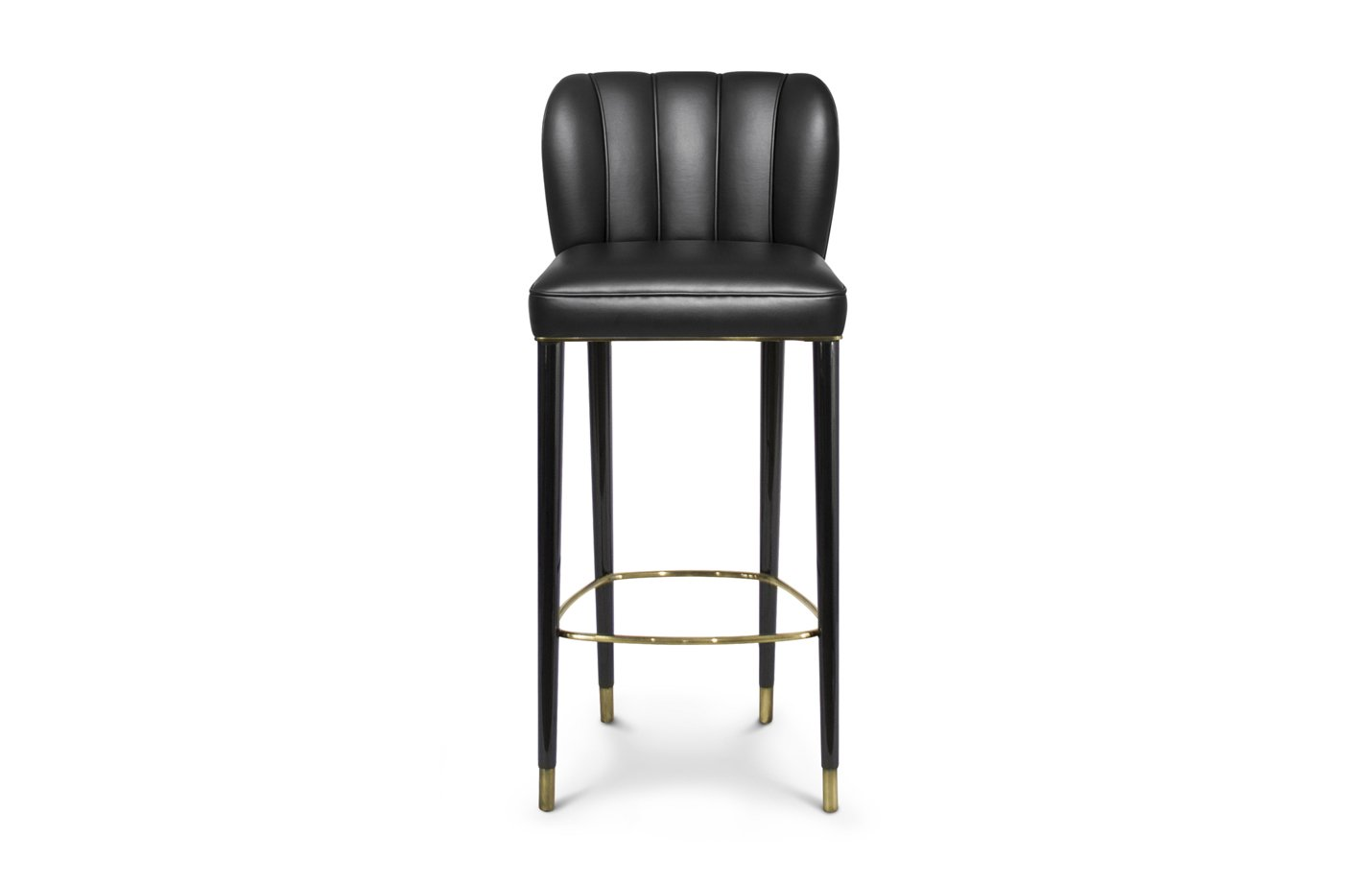 Dalyan bar chair – synthetic leather – black