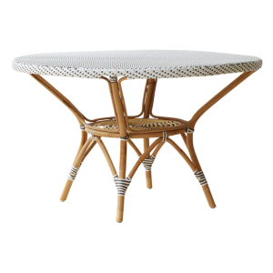 Danielle dining table - Rattan - large - White