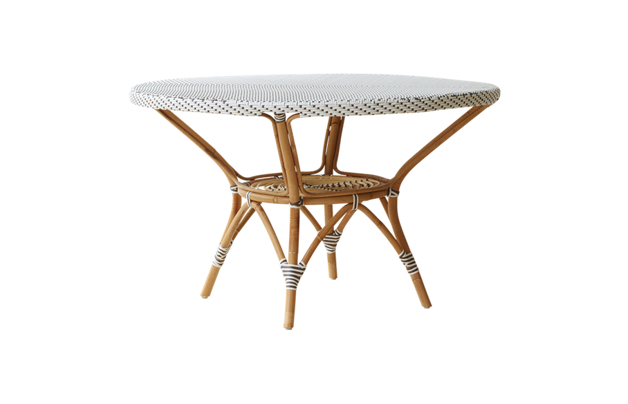 Danielle dining table – Rattan – large – White
