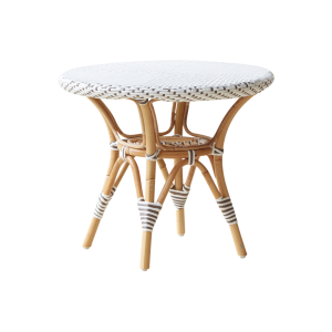 Danielle side table - Rattan - Small - White