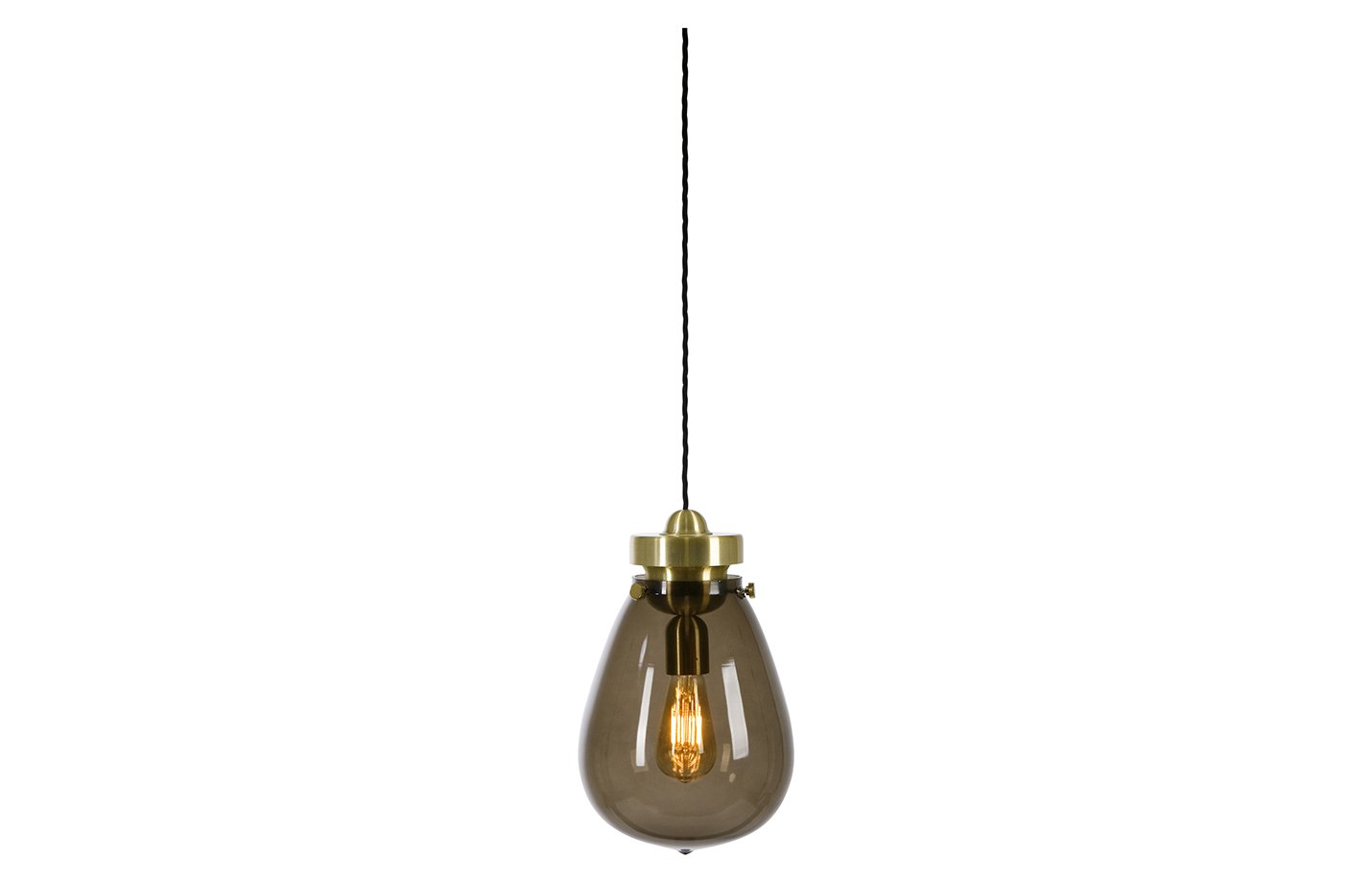 Dolores pendant light – Smoky – brass