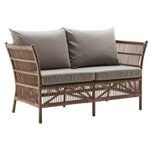 Donatello sofa with cushion - rattan - antique