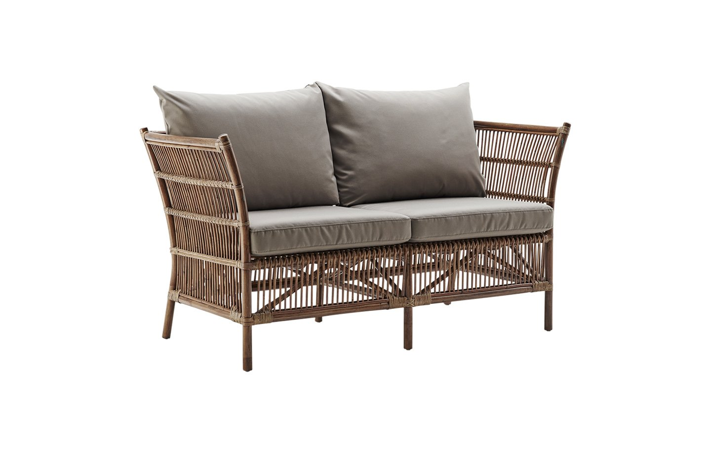 Donatello sofa with cushion – rattan – antique
