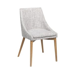Donna chair - Oak - Grey - fabric