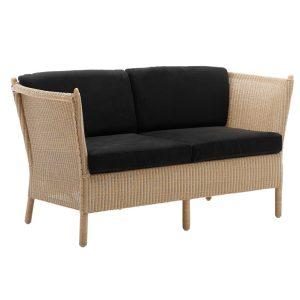 Duo two seater sofa - rattan - natural
