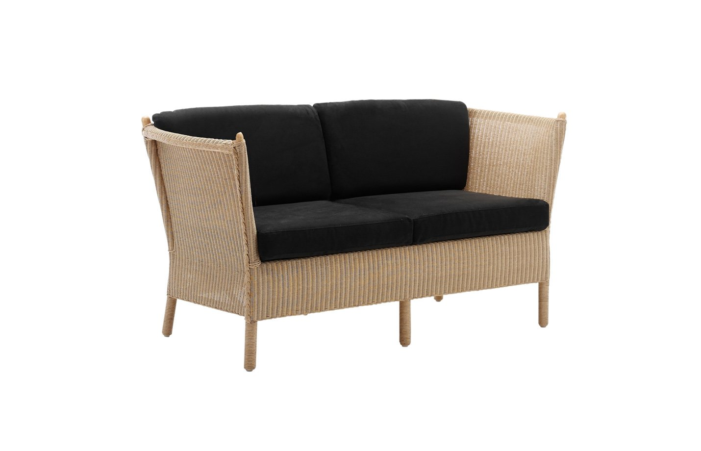 Duo two seater sofa – rattan – natural