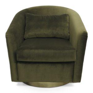 Earth armchair - velvet - Green