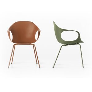 Elephant four legs - lounge chair - terracotta