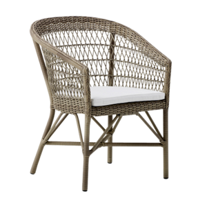 Emma chair - cushion - Rattan - antique