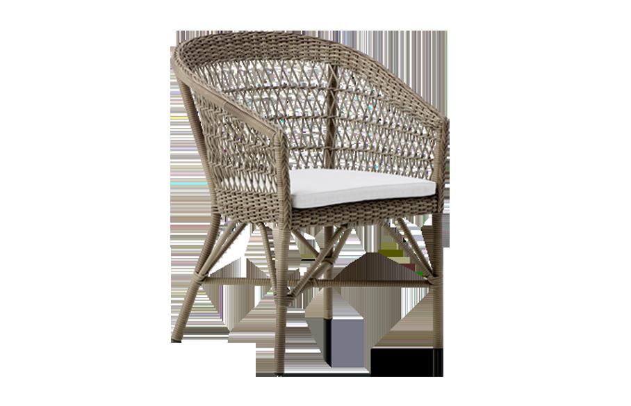 Emma chair – cushion – Rattan – antique