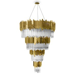 Empire chandelier light crystal - Gold