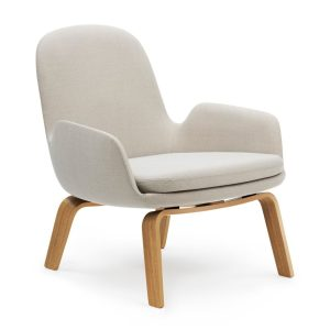 Era lounge chair - low - wood - beige