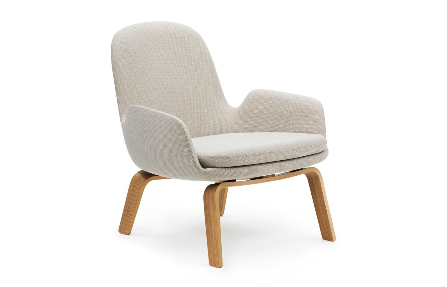 Era lounge chair – low – wood – beige