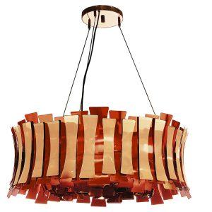 Etta round chandelier light - Copper