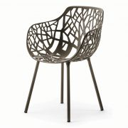 FOREST-Armchair-Metallic-Grey