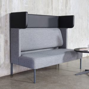 FOUR US - partition booth - seating-sofa-grey-