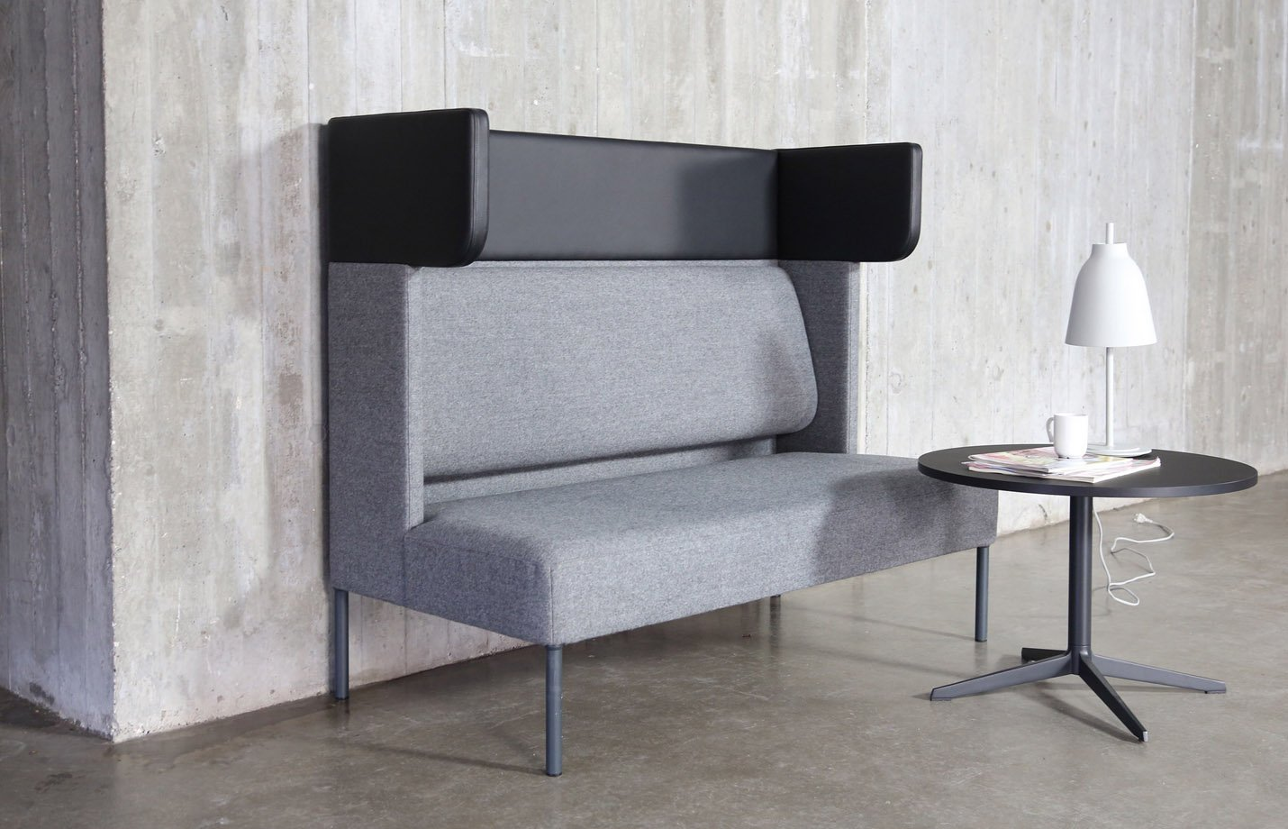 FOUR US – partition booth – seating-sofa-grey-