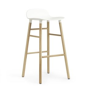 Form barstool oak - medium - white
