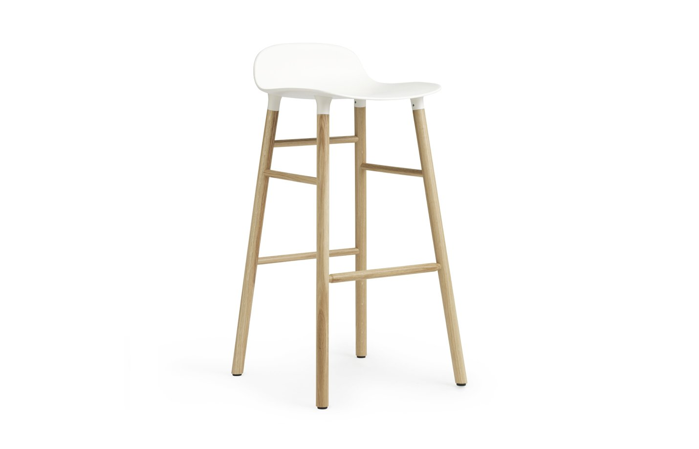 Form barstool oak – medium – white
