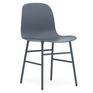 Form chair - chrome - blue