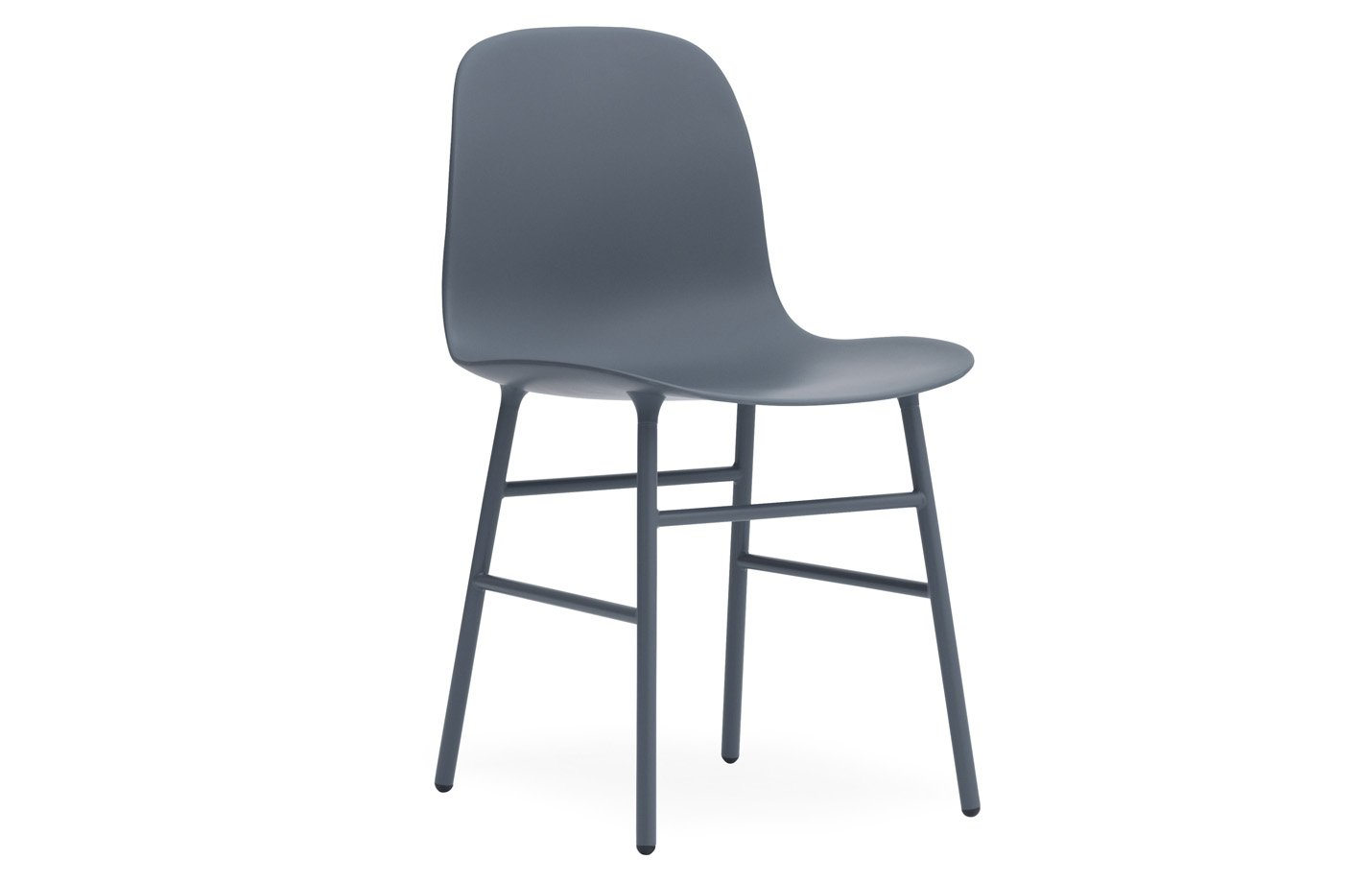 Form chair – chrome – blue